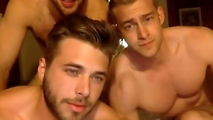 Couple of beautiful twink friends spend some time fucking hard