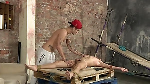 Twink gets bonded and fucked really rough like he likes